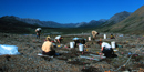 Image of archeologists working in the field