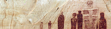 Detail of the Great Gallery pictograph panel