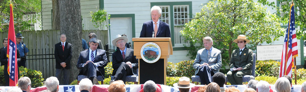 President Clinton Speaking at Dedication of Birthplace Home National Historic Site