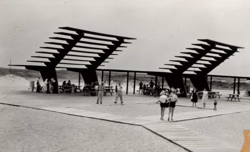 Coquina Beach Sunshade on October 1, 1957