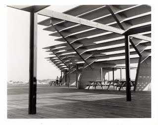 1956 view of Coquina Beach Sunshade