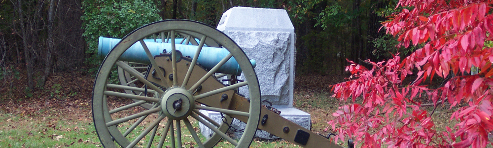 Cannon in the fall at Corinth