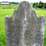 Virginia Watson's headstone in Bracketts Cemetery. Photo courtesy K. Edward Lay.