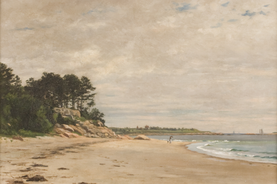 A painting of Dana Beach in Manchester By The Sea, Massachusetts, by Ernest Wadsworth Longfellow.