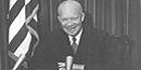 President Eisenhower in Oval Office