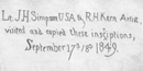 Image of Simpson and Kern inscription from 1849