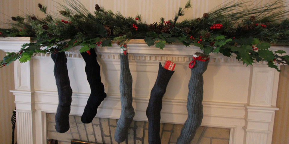 Christmas Stockings at FDR Home