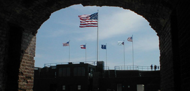 Flags over Fort Sumter