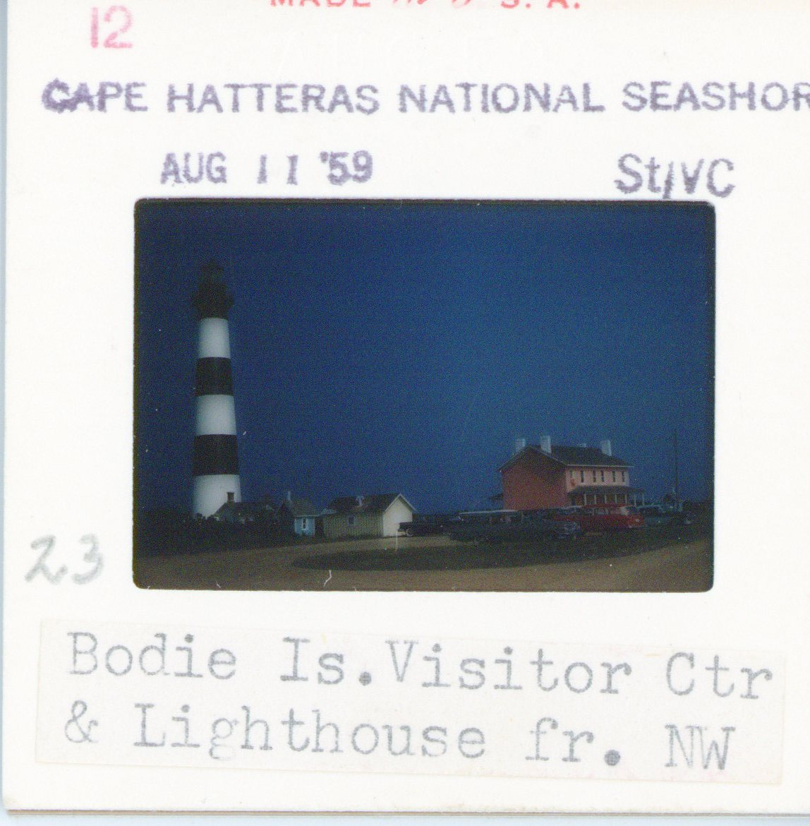 Bodie Island Lighthouse in 1959