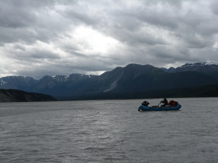 Floating on the Chitina River