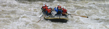 Rafting through rapid on Gauley River