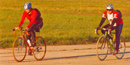 Cyclists on Floyd Bennett Field.