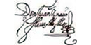 Signature of Don Juan Ignacio Flores Mogollón