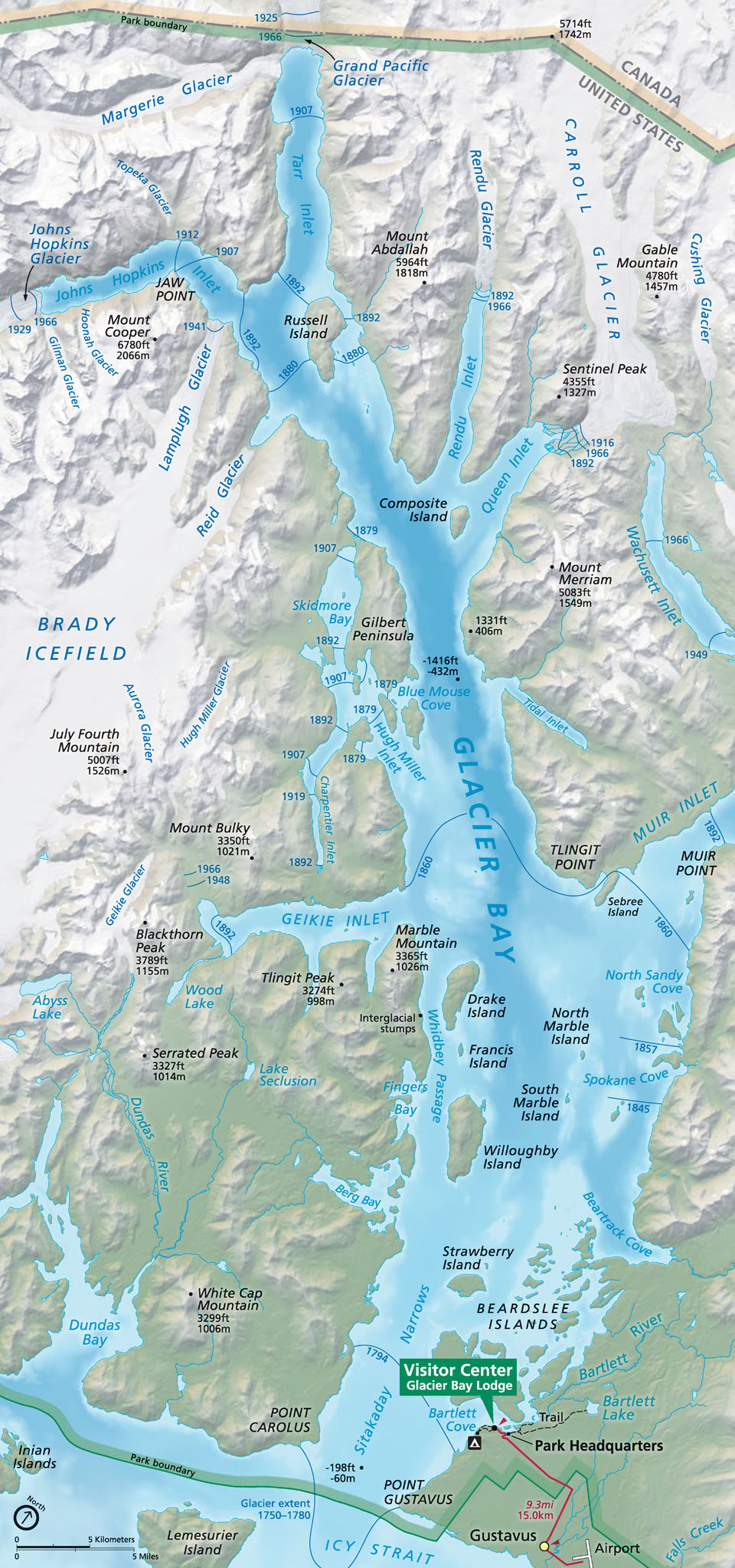 Maps Glacier Bay National Park & Preserve U S National Park Service