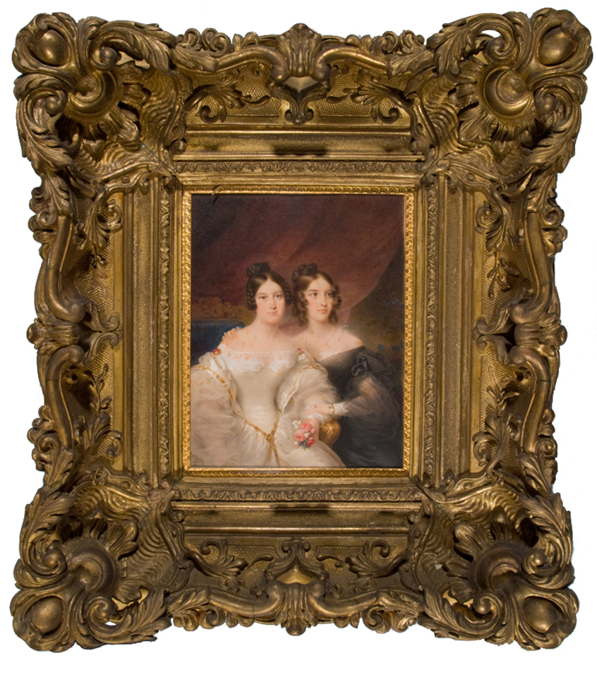 A portrait of Fanny and Mary Appleton done by Jean-Baptiste Isabey in 1836.