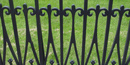 Cast iron fence outside the Old Courthouse, part of the Jefferson National Expansion Memorial