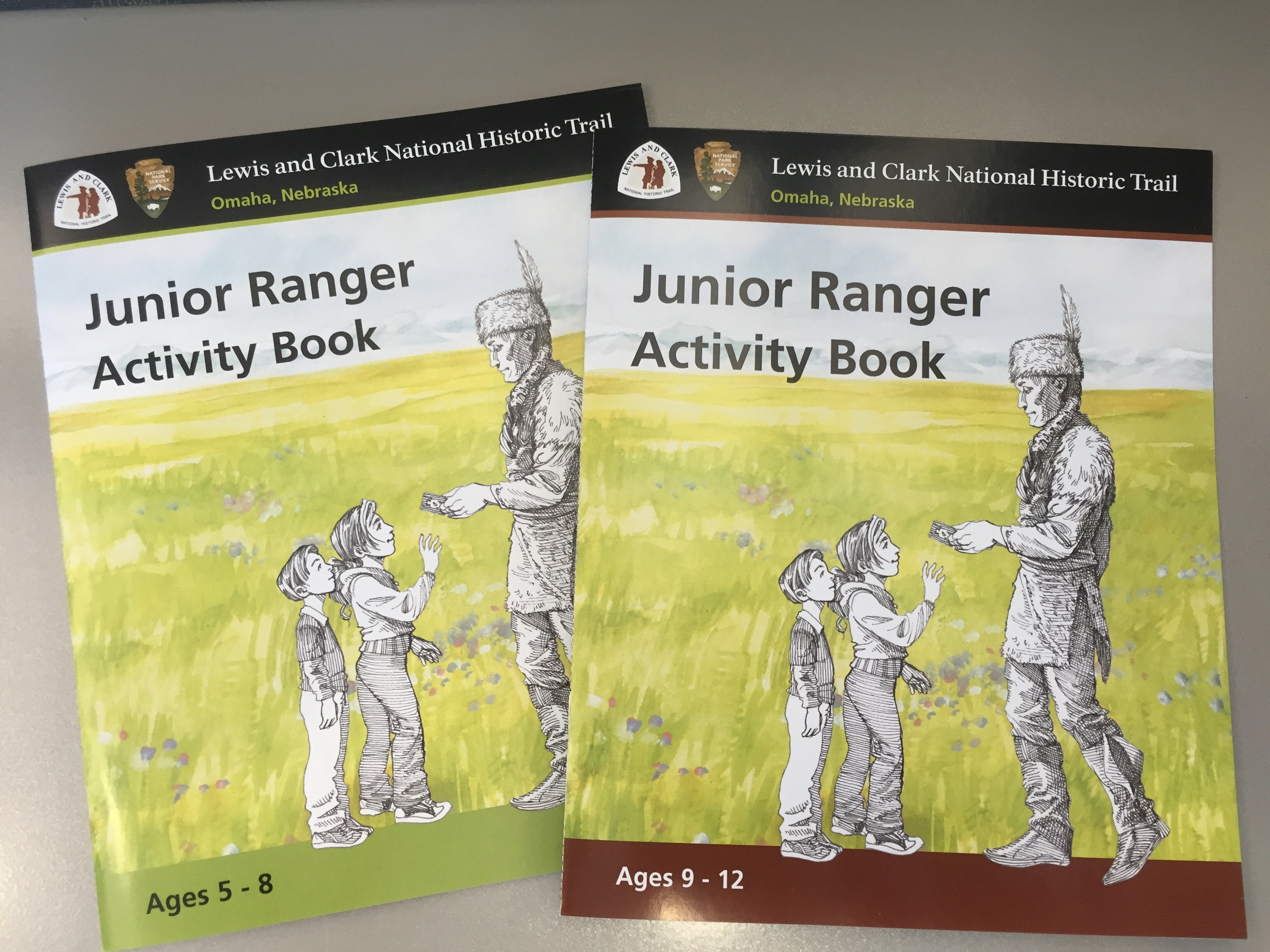 Two Jr. Ranger activity books