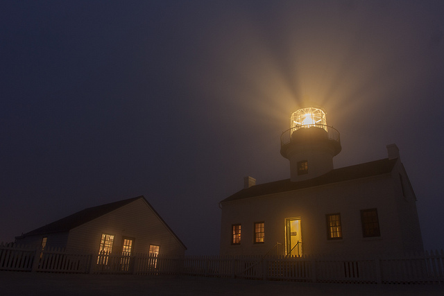 Point Loma Lighthouse at night