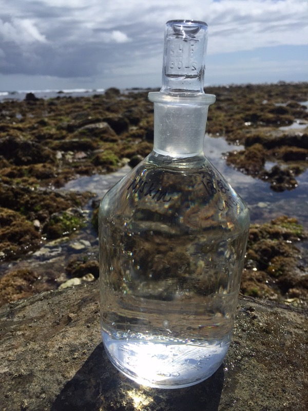 Flask of water used to help monitor Ocean Acidification
