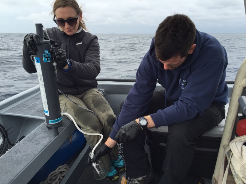 Scientists deploying instruments to help monitor Ocean Acidification