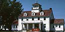 The former Grand Marais Coast Guard Station now serves as a Ranger Station at Pictured Rocks National Lakeshore.