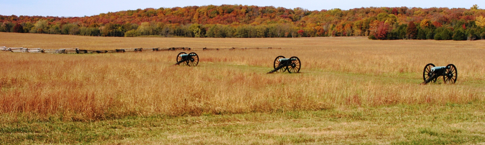 A fall view of the battlefield
