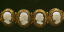 Portrait cameos of the Stuart Family done by Augustus Saint-Gaudens, ca. 1864