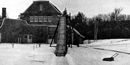 The toboggan slide at Saint-Gaudens' home, 1904.
