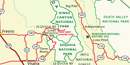 Map of Sequoia and Kings Canyon.