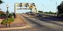 Edmund Pettus Bridge with cars