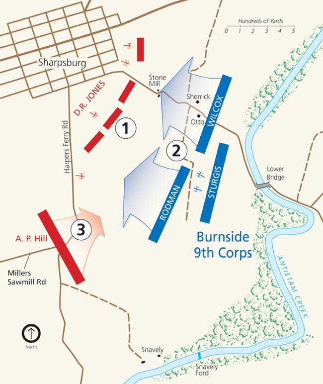 Map of the Final Attack at Antietam