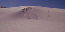 Photo of sand avalanching