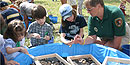 Kids learn about archaeology at Family Fun Fest.
