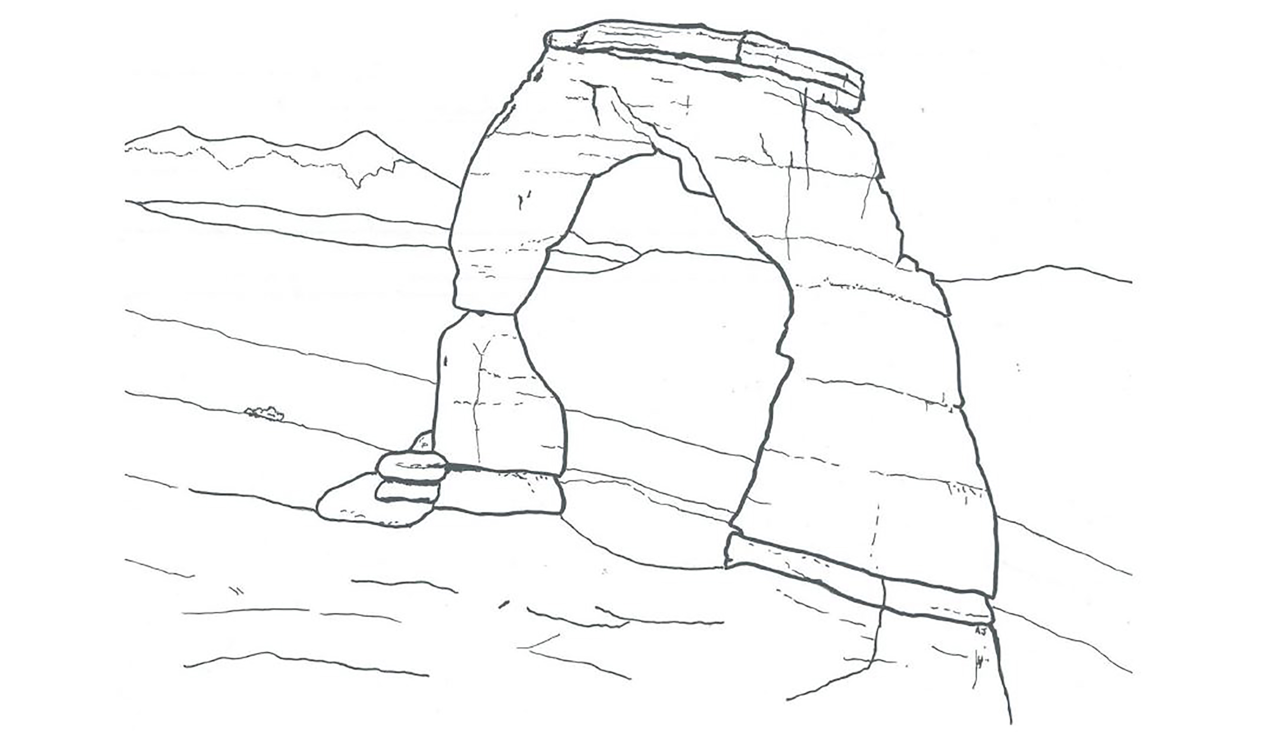 Coloring Pages Arches National Park Us National Park Service