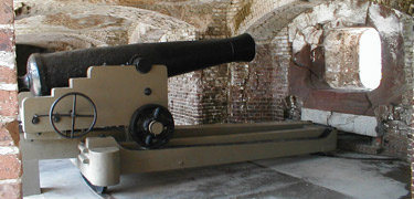 42-pounder cannon, Model 1845, at Fort Sumter