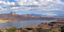 Scenic view over looking Lake Mohave
