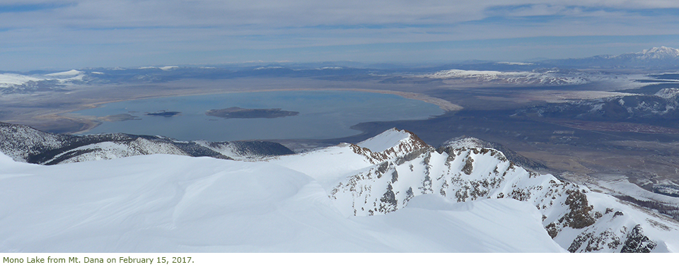 View of Mono Lake from Mt. Dana