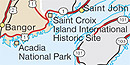 Saint Croix Island on small map.