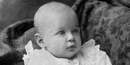 Historic photo of a baby girl, Inda-Francis, who was born on the Balclutha.