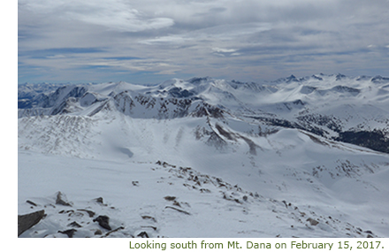 Looking South from Mt. Dana