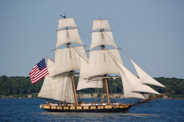 The USS Niagara's Reproduction Now Used as a Sailing School Vessel (Brig).