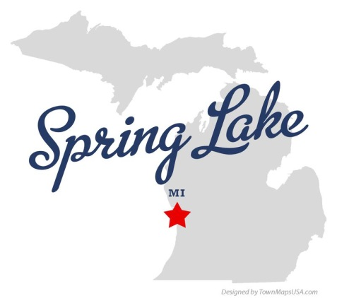 Location of Spring Lake, Michigan (Spring Lake).