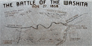 Granite map depicting the attack at the park overlook.