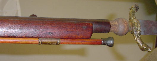 Musket with a plug bayonet mounted