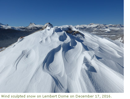 Wind Blown Snow on Lembert Dome