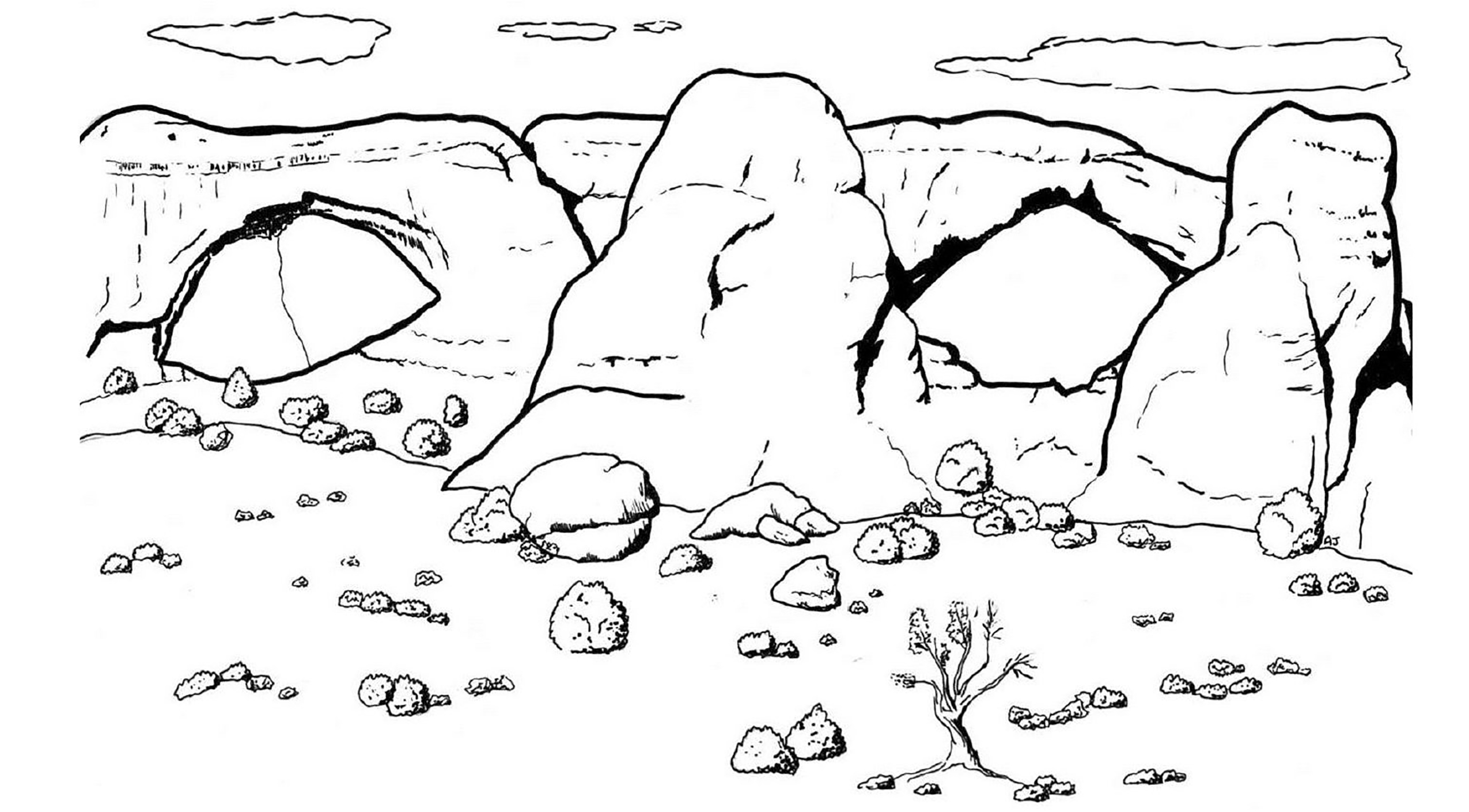 Coloring Pages Arches National Park U S National Park Service