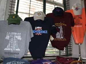 The Independence Square Museum Store t-shirt display.