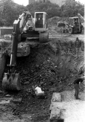Photo of backhoe in use.