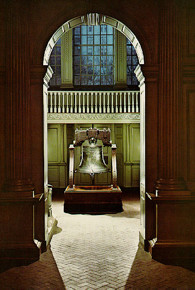 The Liberty Bell's old home, before 1976.