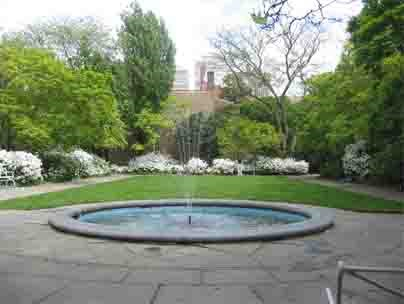 Magnolia Garden with fountain.